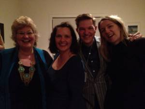 Catherine Deveny with Brendan McMahon, Anne and me.