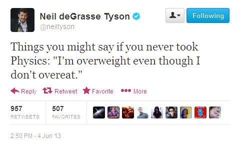 Neil tyson weight